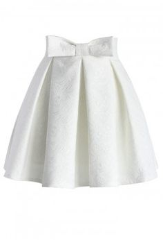 Sweet Your Heart Jacquard Skirt in White - Retro, Indie and Unique Fashion