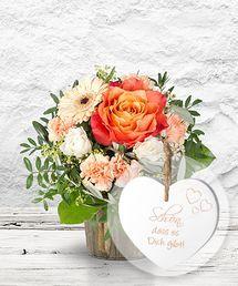 Dolce Vita Und Vintage Herz Schon Dass Es Dich Gibt Blumen