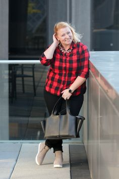 Buffalo Plaid can be perfectly work appropriate for causal Fridays with this great outfit. Check out all the details for wearing this fall classic. This outfit can easily go from fall into winter and is great work along with happy hour afterwards.