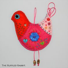 Hanging Cheerful Chicken - The Supermums Craft Fair