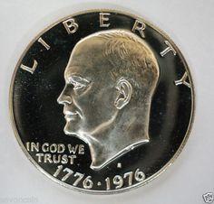 1976 s Silver Proof Eisenhower Dollar Gem DCAM | eBay