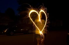 Drawing with light, how to get the perfect Sparklers photo!