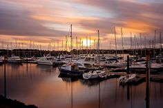 Sunset on Pwllheli Marina
