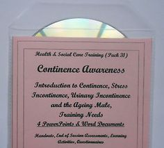 Training Resources CD Health and Social Care CONTINENCE Awareness
