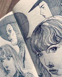 jaredmuralt on Instagram. Detail of an older post. #drawing I did in my…