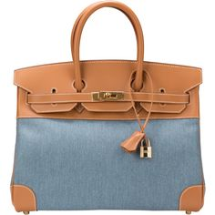 e40ef9103c1 Hermes Denim Birkin Vache Naturelle Leather Gold Hardware Limited Edition  Very Rare