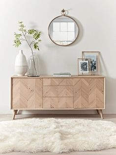 chevron oak sideboard in dining room design, neutral dining room decor with buffet decor, console table in living room decor wohnzimmer, Chevron Oak Sideboard Dining Room Design, Oak Dining Table, Furniture, Luxury Home Furniture, Home Furniture, Buffet Decor, Neutral Dining Room Decor, Neutral Dining Room, Home Furnishings