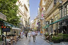 The shopping area of the Hungarian capital Budapest Vaci utca
