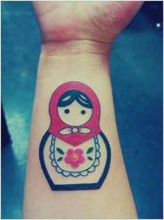 Simple Russian doll tattoo... I would love to get this with my sisters.. Big to little