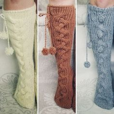 Our awesome socks are hand knit knee high wool socks. Very warm and cozy, perfect for cold winters, for kids to run around the house or for you to sit near the fireplace.   The cutest wool socks ever!
