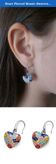 "Heart Pierced Mosaic Swarovski Crystals Gaudi Earrings Oliver Weber 22451. Oliver Weber was founded in 1994 in Austria, the home of the most famous cut crystals. The brand takes its name from one of his two founders. Both founders worked for years in management positions for the prestigious Company, Swarovski. Oliver Weber jewels are made exclusively with the use of ""crystals from Swarovski,"" the highest quality crystals on the market. They come with an Authenticity Seal from Swarovski…"