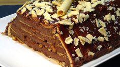 Receta Tarta flan de Nutella con galletas súper fácil - Recetas de cocin...