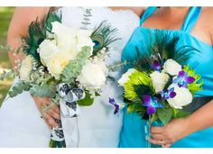 My Bouquet and Bridesmaids Bouquet!