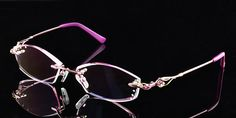 Diamond cutting edge of rimless metal glasses,rimless eyeglass frames for women pink rectangle, pink prescription glasses frames for women Prescription Glasses Frames, Rimless Frames, Eyeglasses Frames For Women, Eye Frames, Eye Glasses, Lighter, Lenses, Shape, Girl Stuff