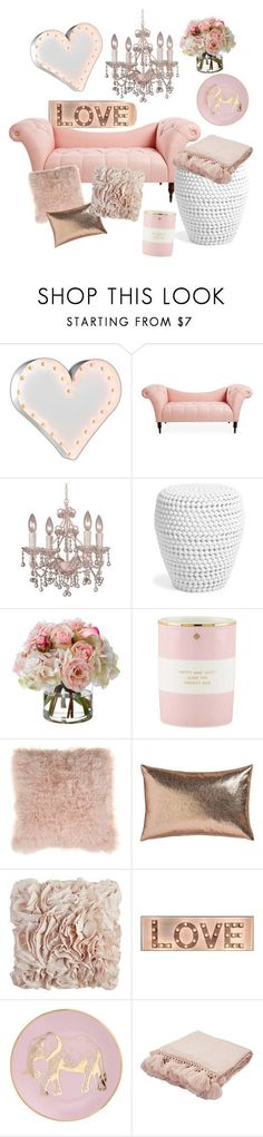 """""""The love room"""" by evelyn-anita ❤️ liked on Polyvore featuring interior, interiors, interior design, home, home decor, interior decorating, Vintage Marquee Lights, Crystorama, Diane James and Kate Spade"""