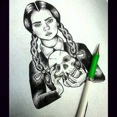 wednesday addams drawing tumblr - Szukaj w Google