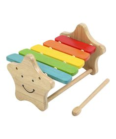 The musical sounds of the xylophone are fun to make, especially with this cheerfully colorful wooden instrument. A great play room essential that helps to boost kids' confidence and their creative thinking.