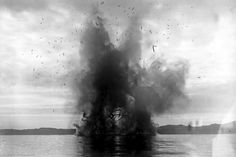 In the Dardanelles, the allied fleet blows up a disabled ship that interfered with navigation.