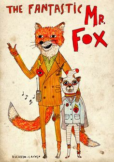 Perfect for tonight.  Fantastic Mr. Fox illustration by Ricardo Cavolo.