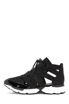 Jeffrey Campbell Shoes VEDDA Sneakers in Black Mesh Combo