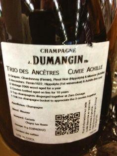 El Alma del Vino.: Champagne J. Dumangin Fils Trio des Ancêtres Cuvée Achille.