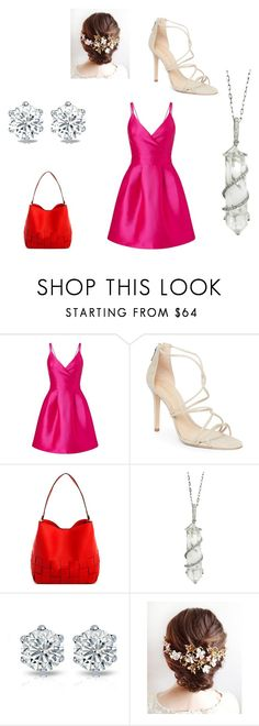"""Aphrodite's Daughter Fancy Outfit"" by mia-evergreen on Polyvore featuring Miss Selfridge, Schutz and Sharon Khazzam"
