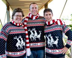 Reindeer Threesome Sweater