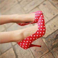 polka dotted heels www.brandsgalaxyfashion.com