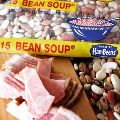 Hurst's 15 Bean Soup With Leftover Ham in a Slow Cooker - Basilmomma