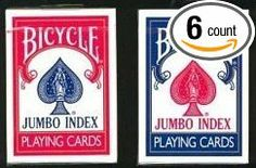 Bicycle Jumbo Index Playing Cards - 6 Decks