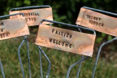 Rustic Hand Stamped Copper Garden Markers That Will Jazz Up Your Garden | eHow Home | eHow