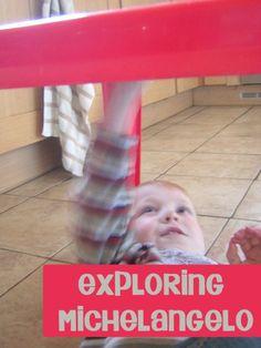 Michelangelo for Preschool children - looking at how he worked