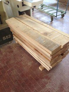 Piallatura di tavole in legno di rovere per gradini - Tavole legno massello ...