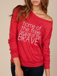 HOME OF the FREE, because of the brave. remember everyone deployed long sleeve At Ease Designs
