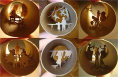 Manualidades recicladas con tubos de papel film | Aprender manualidades es facilisimo.com