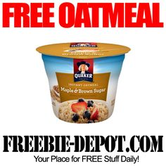 FREE Oatmeal Cup