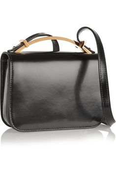 Marni | Sculpture small glossed-leather shoulder bag | 1210