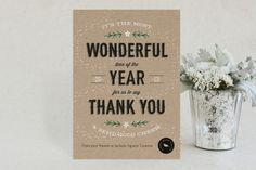 """Most Wonderful Time"" - Customizable Business Holiday Cards in Black, Red or Green by cadence paige design. Company Christmas Cards, Corporate Holiday Cards, Office Christmas, Holiday Greeting Cards, Holiday Postcards, Xmas Cards, Promo Gifts, Referral Cards, Yule"