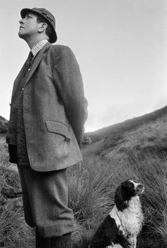 Martin Parr GB. England. West Yorkshire. Hebden Bridge. A visiting gamekeeper. The 'guns' who shoot grouse, often bring their own keepers to load for them. 1976.