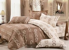 fashion gucci cotton 4 piece full size duvet covers on beddings. Black Bedroom Furniture Sets. Home Design Ideas