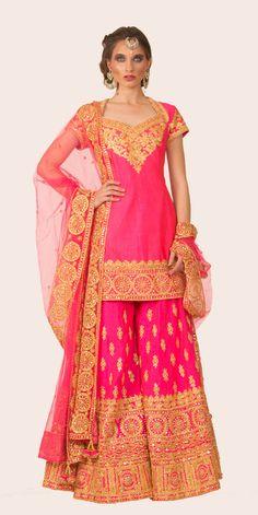 PINK GOTA WORK SHARARA SET | Preeti S Kapoor
