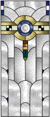 art deco 175 stained glass window