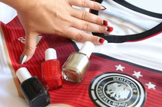 essie world cup nails / go germany!