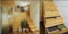 Short of space? High Bed Solution!  I am definitely building this into my house!