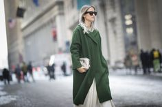 Pin for Later: Street Style Babes Who Will Inspire Your Snow-Day Beauty Look New York Fashion Week Fall 2015