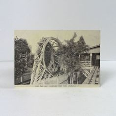 Vintage Photo Postcard Fountain Ferry Park Loop the Loop - PC210 - Vintage Photo Postcard - Fountain Ferry Park Loop the Loop  Wood Roller Coaster Louisville Kentucky Published by Mac Neil's Books   5-3/16W x 3-7/16H - FOR SALE at www.ClaudiasBargains.com