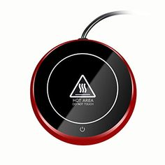 Coffee Warmer Plate Mug Warmer Electric for Desk of Home or Office, Keep Coffees and Drinks Warm, diameter (Red) Coffee Cup Warmer, Tea Warmer, Hot Coffee, Coffee Cups, Tea Cups, Metal Containers, Candle Warmer, Dishwasher Detergent, Specialty Appliances