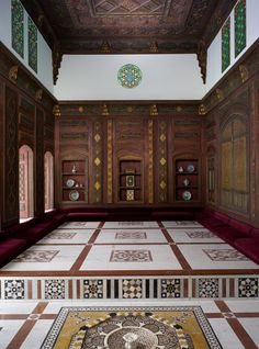 Damascus Room, dated A.H. 1119/ A.D. 1707. Syria, Damascus. The Metropolitan Museum of Art, New York. Gift of The Hagop Kevorkian Fund, 1970 (1970.170) | The Damascus room is from an upper-class Syrian home of the Ottoman period (1516–1918). As was customary in Islamic lands, these rooms were reserved for the master of the house and his guests. #OneMetManyWorlds