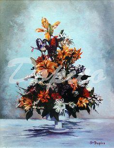 Bodegón de flores/Natureza morta de flores/Still life of flowers. Técnica/Technique: Óleo/Oil on canvas. Referencia/Referente/Reference: CUADROS0016.