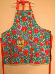 Owl Print Apron Available in Children or Toddler